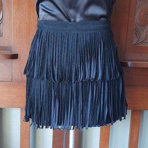 Divided Faux Suede Tassel Mini Size 10